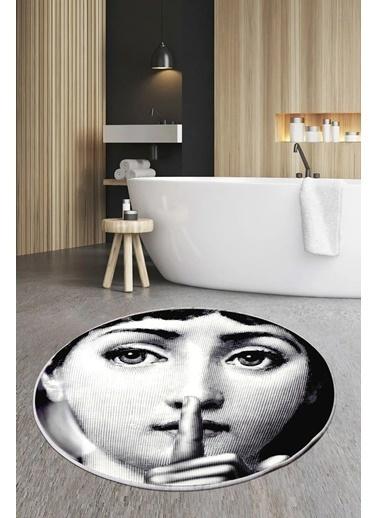 Arma House 80X80 Dijital Kaymaz Tabanlı Silence Fornasetti Banyo Ve Kapı Paspası Renkli